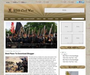 Usa Civil War Blogger Template