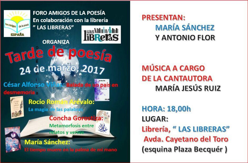 """Presentación en """"LAS LIBRERAS"""", Cádiz"""