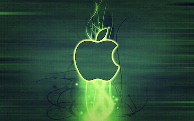 Colorful Green Apple Glass Wallpaper