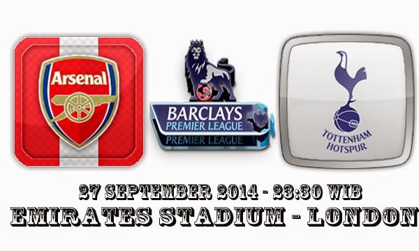 Prediksi Skor Bola Arsenal Vs Tottenham Hotspur 27 September 2014