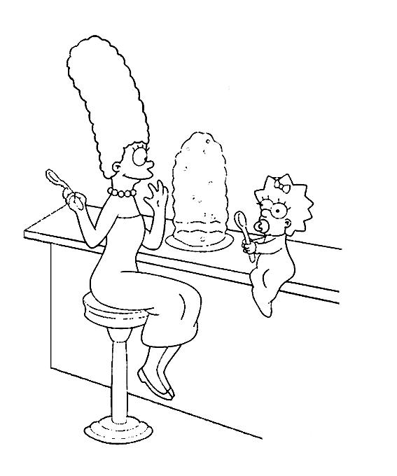 Marge simpson para pintar colorear imprimir recortar y pegar ...