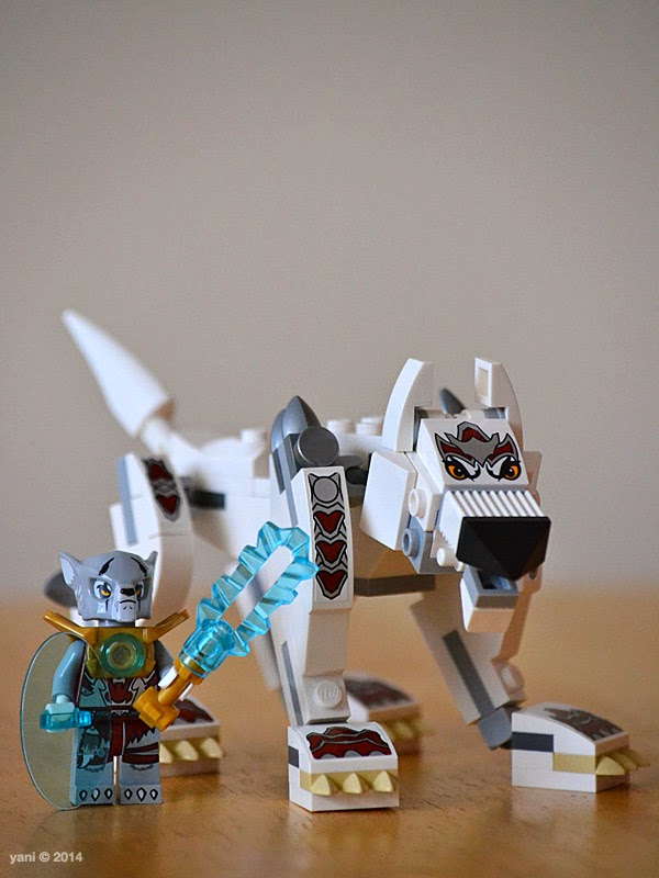 lego chima legend beast wolf - finished model