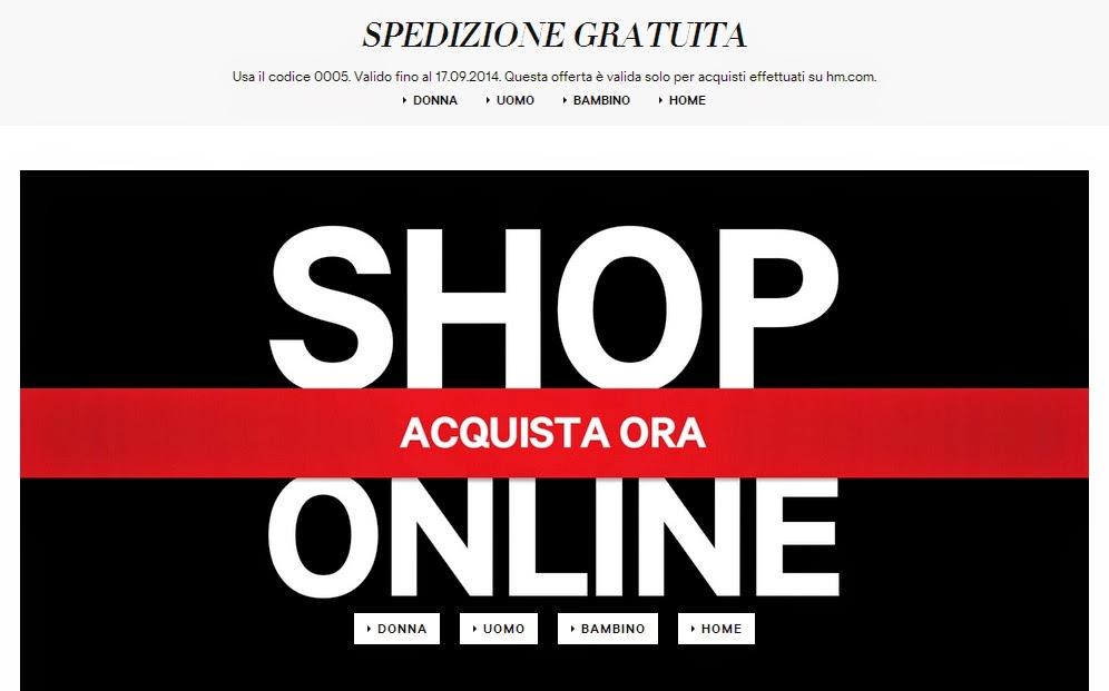 h&m shop online italia