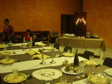 Pesach seder table