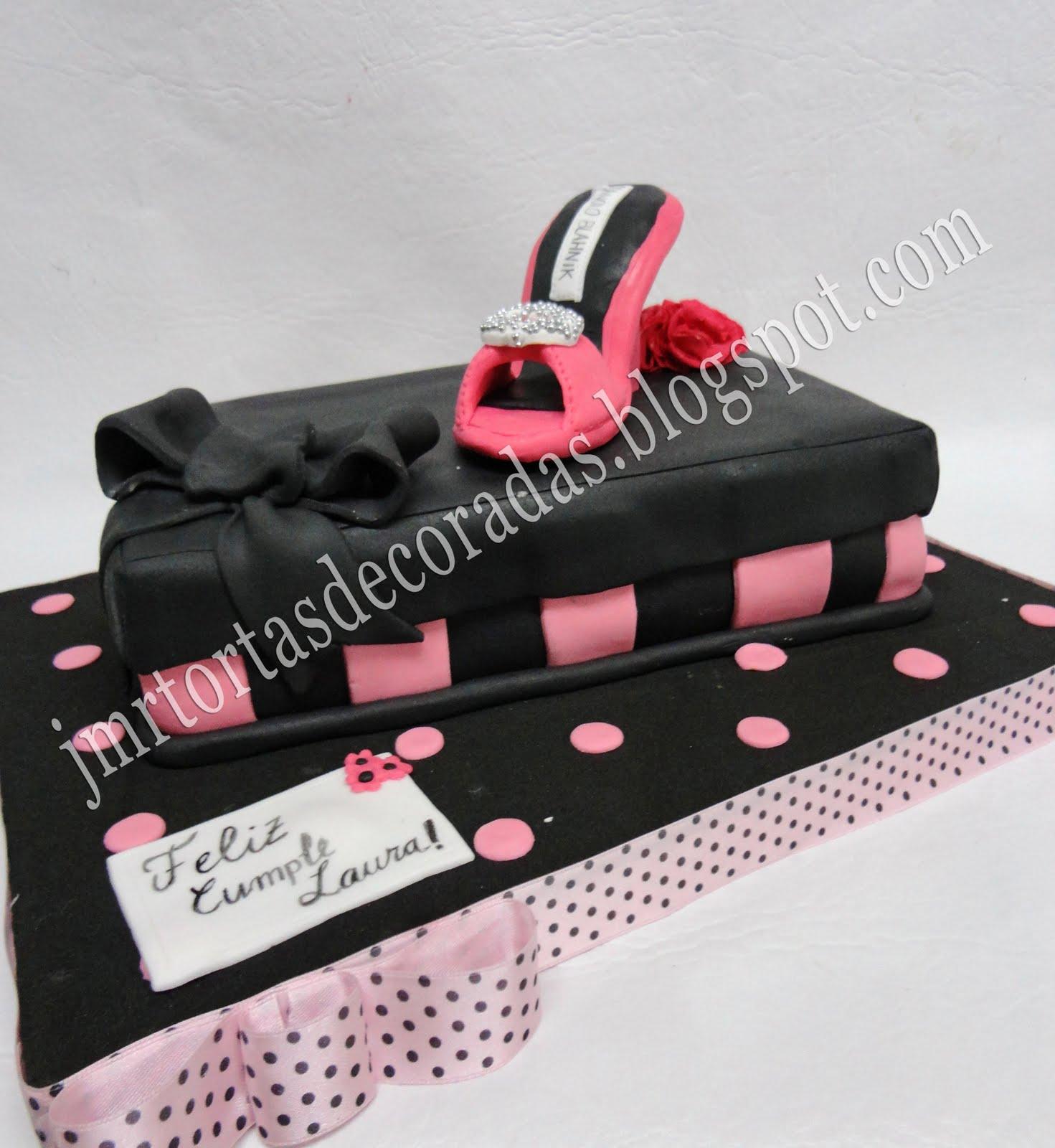 Torta caja de zapatos jmr tortas decoradas - Cajas de zapatos decoradas ...