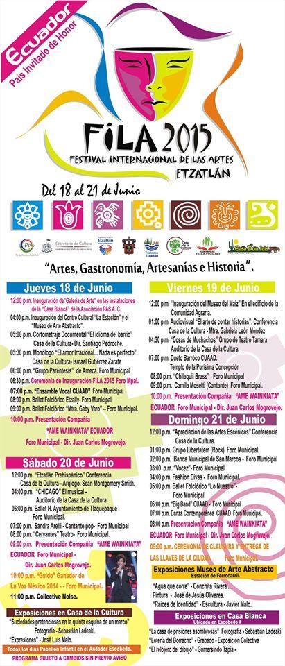 FILA 2015 Program Festival Etzatlán