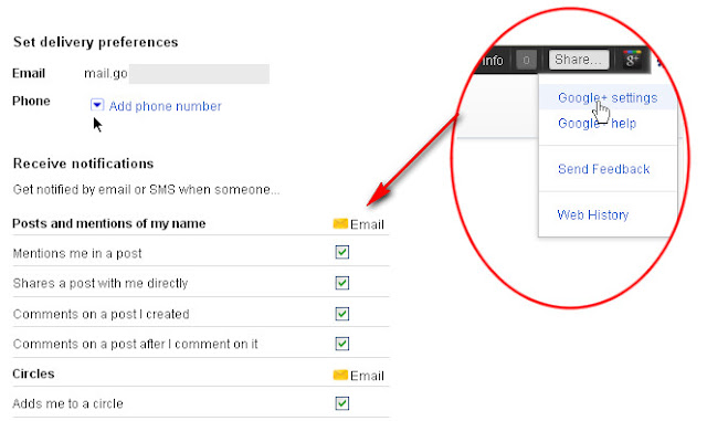 The Basic Guidelines How to Use Google+: Setting Notifications