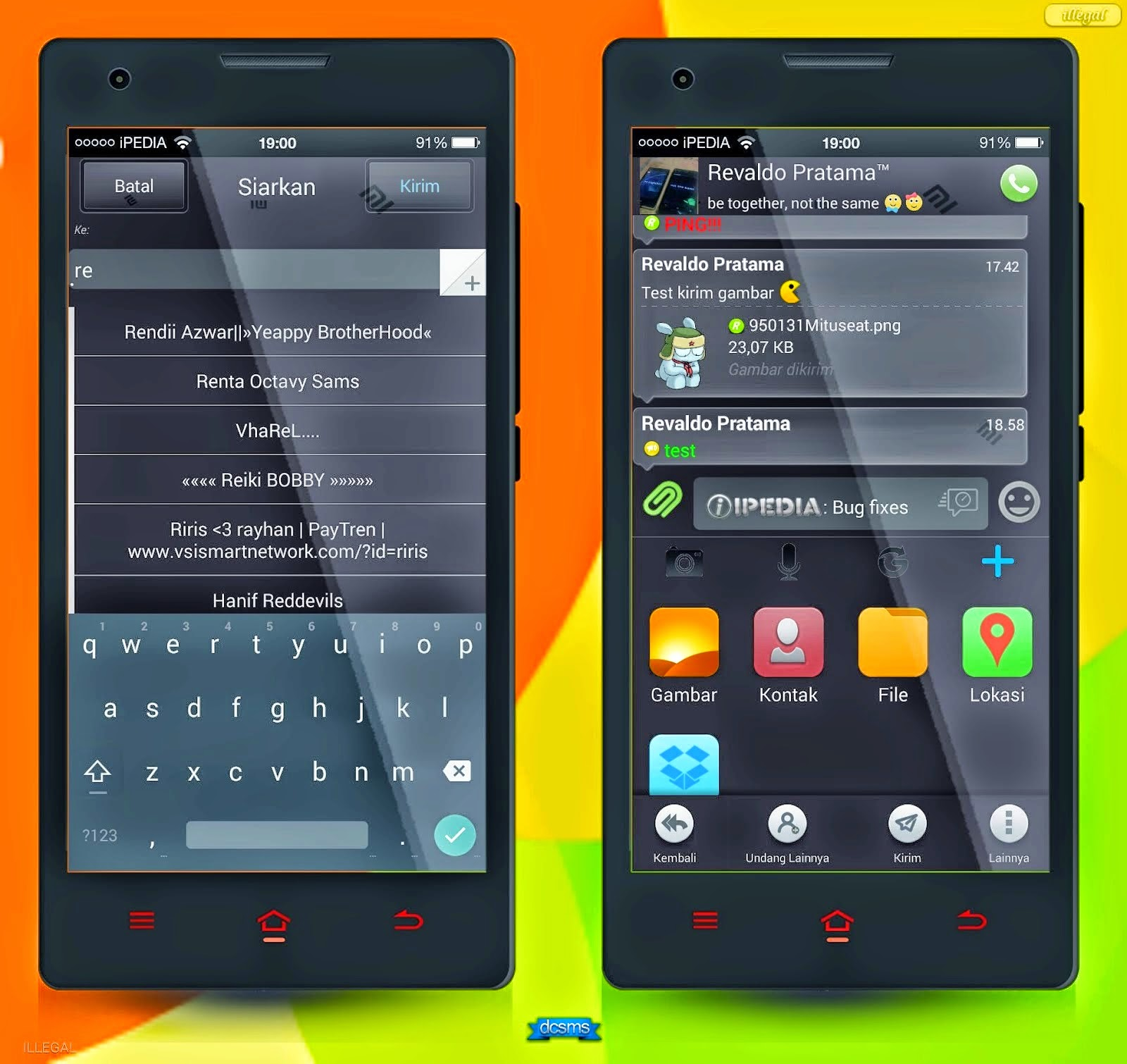 BBM MIUI Style Dark Version 2 [Fixed]