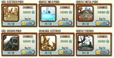 habitats para los dragones puros