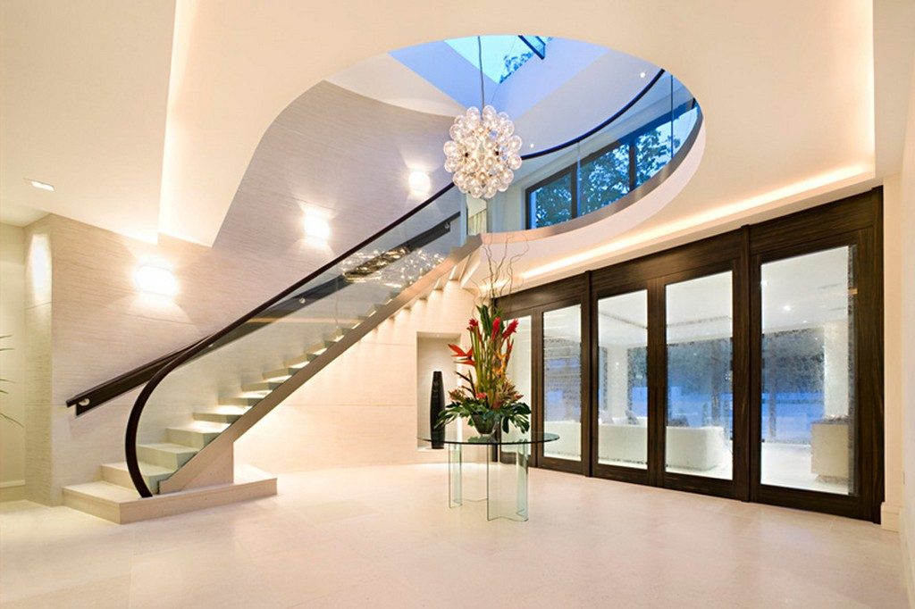 New home designs latest modern homes interior stairs Contemporary house designs uk
