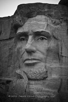 Mt Rushmore Black Hills Lincoln Face by Dakota Visions Photography LLC