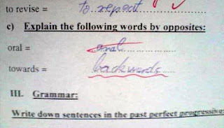 funny exam answer opposite of oral, anal