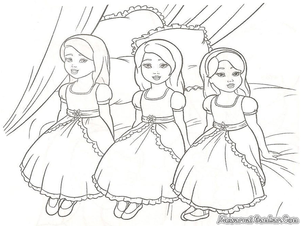 Mewarnai barbie colouring pages
