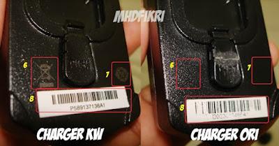 Perbedaan Charger KW dan Original