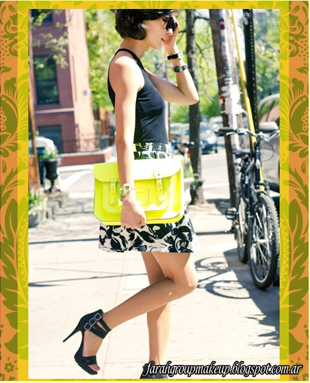 carteras, clutch, neon, satchel bags