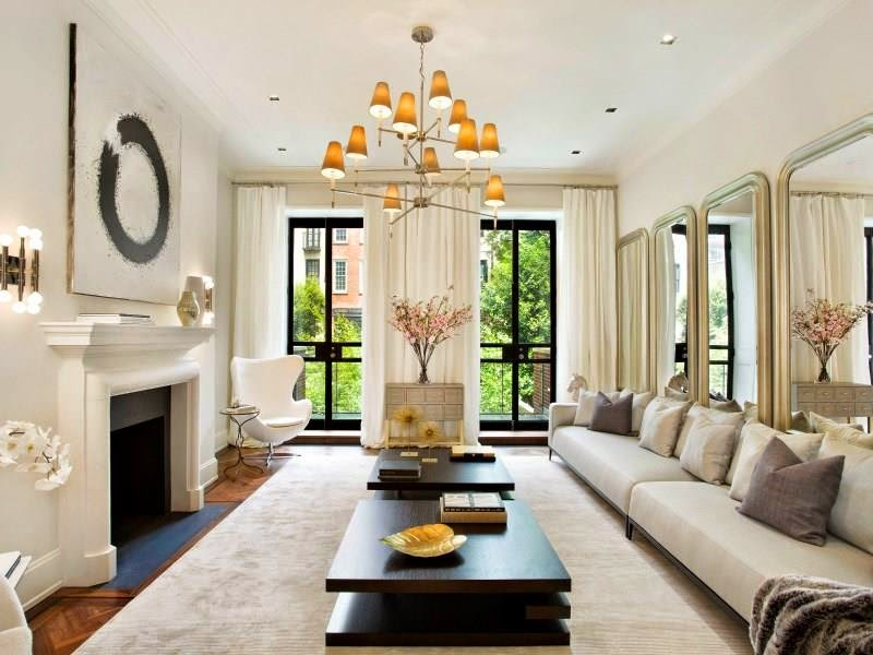 new york city townhouse million dollar living room