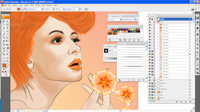 Art Li and Stuff - Tangerine Lady WIP Screenshot