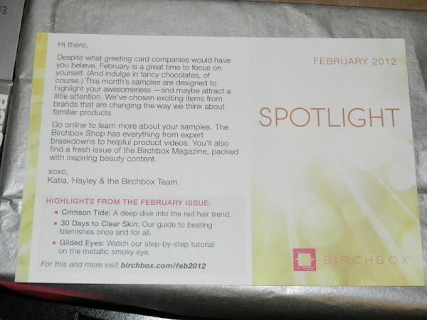Birchbox Review: February 2012