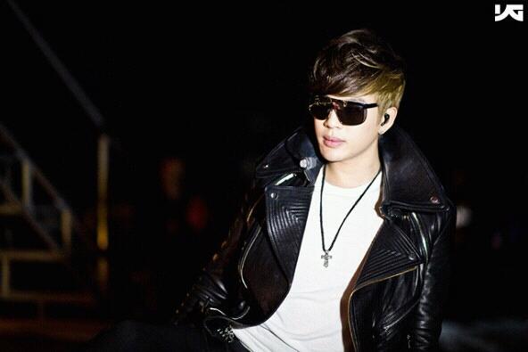 Se7en wearing MCM jacket