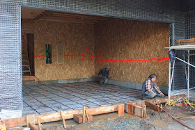 Homecrunch how to build a better garage floor that for Garage slab thickness