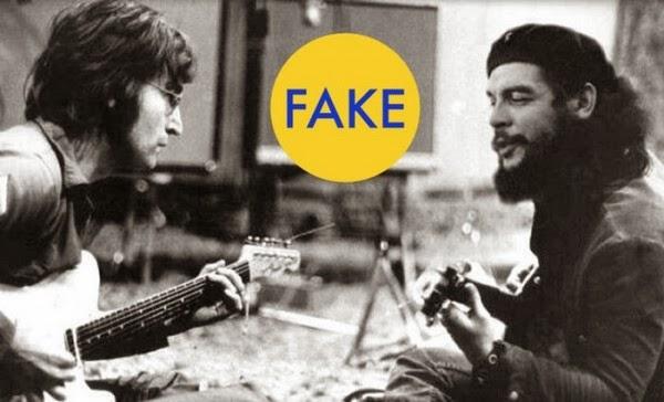 1. На этой фотографии Джон Леннон играет на гитаре с Че Геварой.