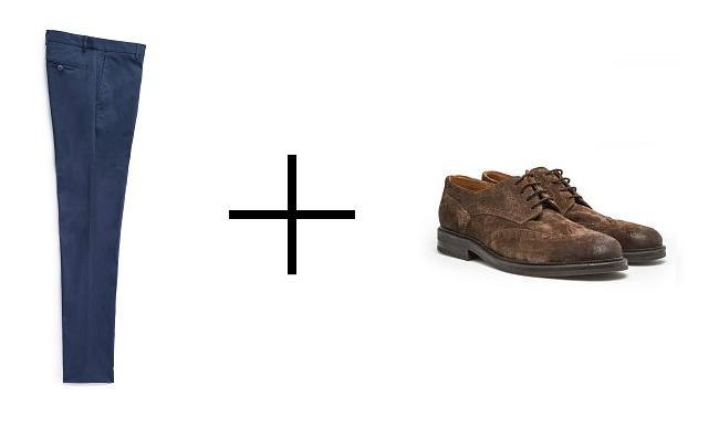 conjunto de zapato y pantalon en HE by Mango