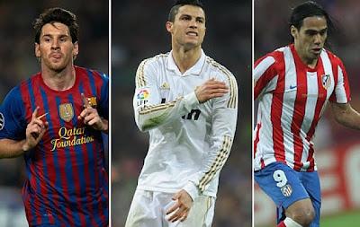 Messi, CR7 y Falcao no marcaron después de un año