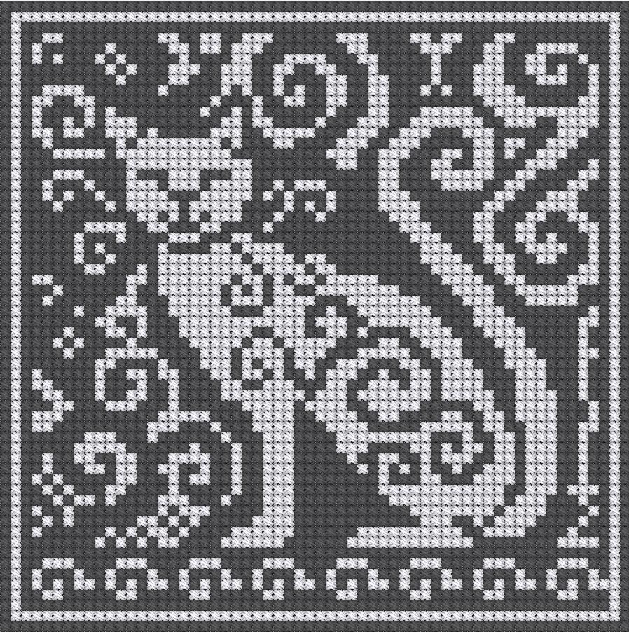 Cat Knitting Pattern Chart : WitchWolfWeb Creations Charts: Spirit Cat Charts