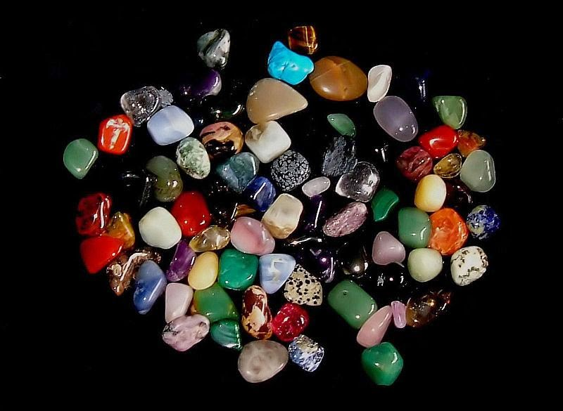 Image: Tumbled Gemstones. Image is in the Public Domain.