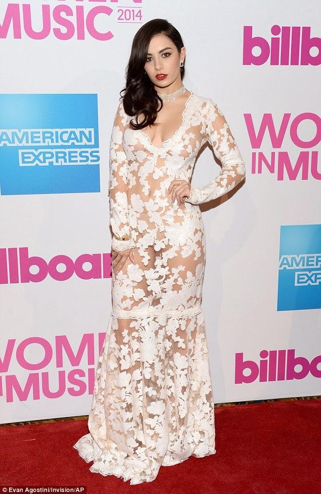 تشارلي XCX في ثوب شفاف يظهر ملابسها الداخلية خلال حضورها Billboard Women In Music luncheo