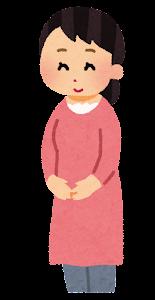 妊婦のお腹が大きくなる段階のイラスト1