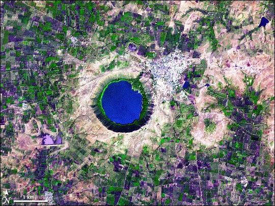 Giant crater near Mumbai, India