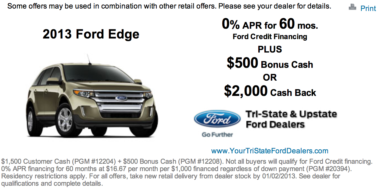 The Ford Edge Is Truly The Greatest Value Car In This Segment And With This Incentives The Value Has Just Increased Exponentially