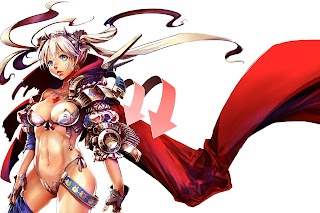 Anime Sexy Girl Armored Cleavage HD Wallpaper Desktop Background