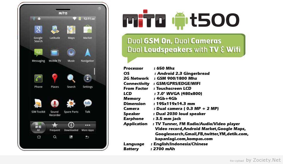 Harga Dan Spesifikasi Mito T500 Tablet Android TV - Inilah Ponsel ...