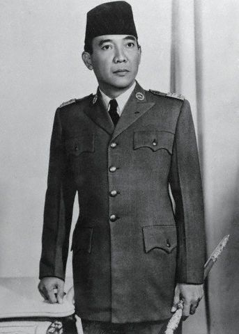 Former Indonesian president Dr. Achmed Sukarno