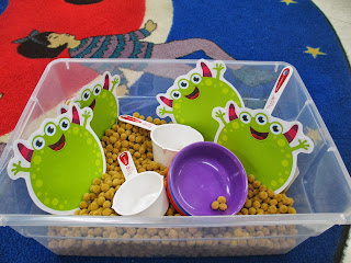 monster theme sensory tub