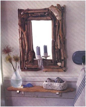 Este est hecho con tapones de corcho - Como decorar un espejo sin marco ...