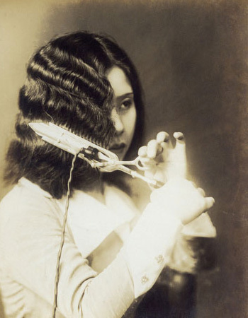 This is how it was done on the 30's with the old curling irons
