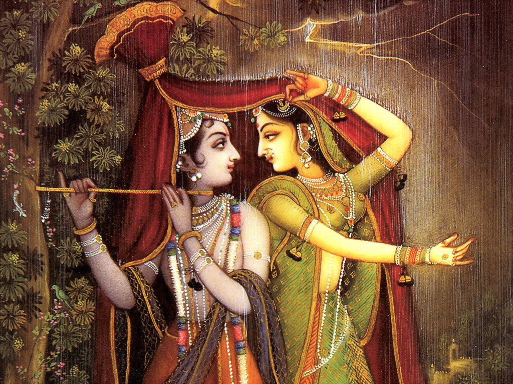 Radha and krishna beautiful wallpaper collection for Mural radha krishna