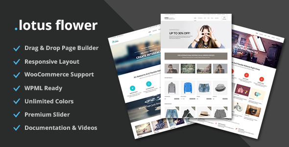 Themeforest – Lotus Flower Flexible Multi-Purpose Shop Theme