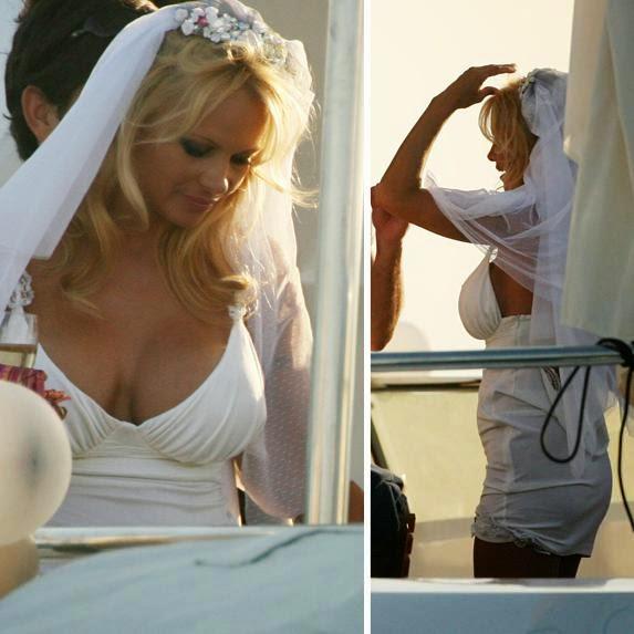 Pamela Anderson de novia