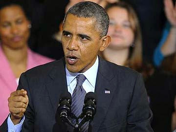 Picture of President Obama addressing the issue of Obama Care