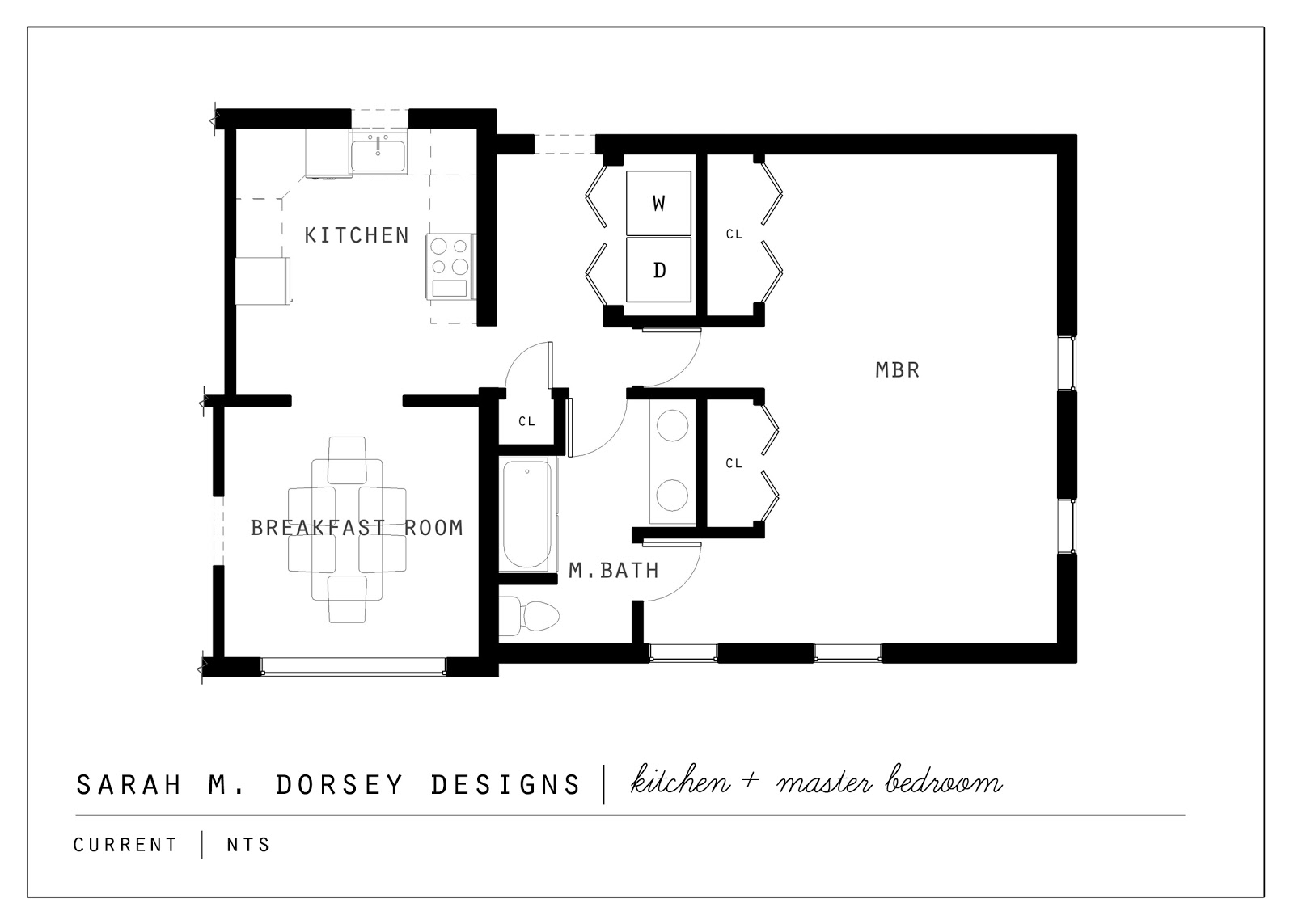 Sarah m dorsey designs proposed kitchen and master suite for Typical house design