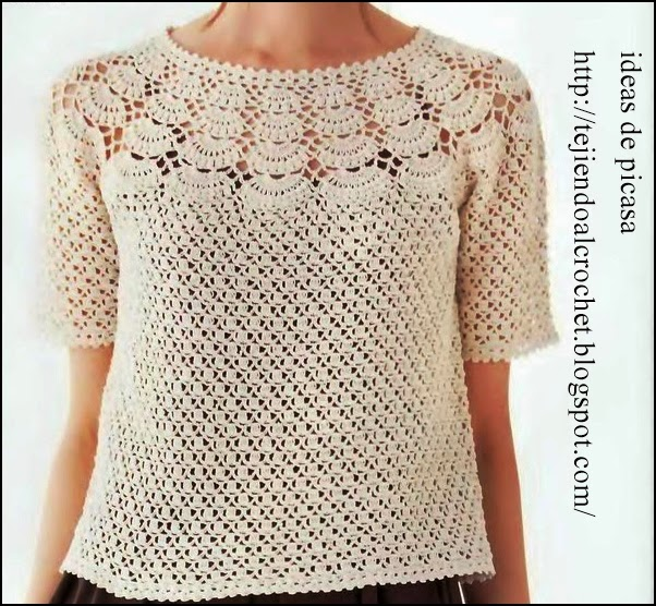 crochet fabric , CROCHET - GANCHILLO - PATRONES - GRAFICOS: REMERA ...