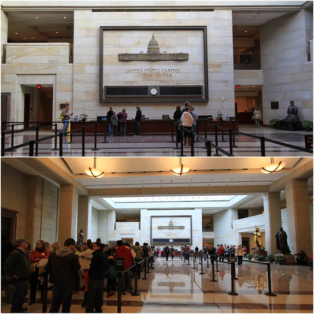 Long queue for touring starts early in the morning every day at United States Capitol in Washington DC, USA