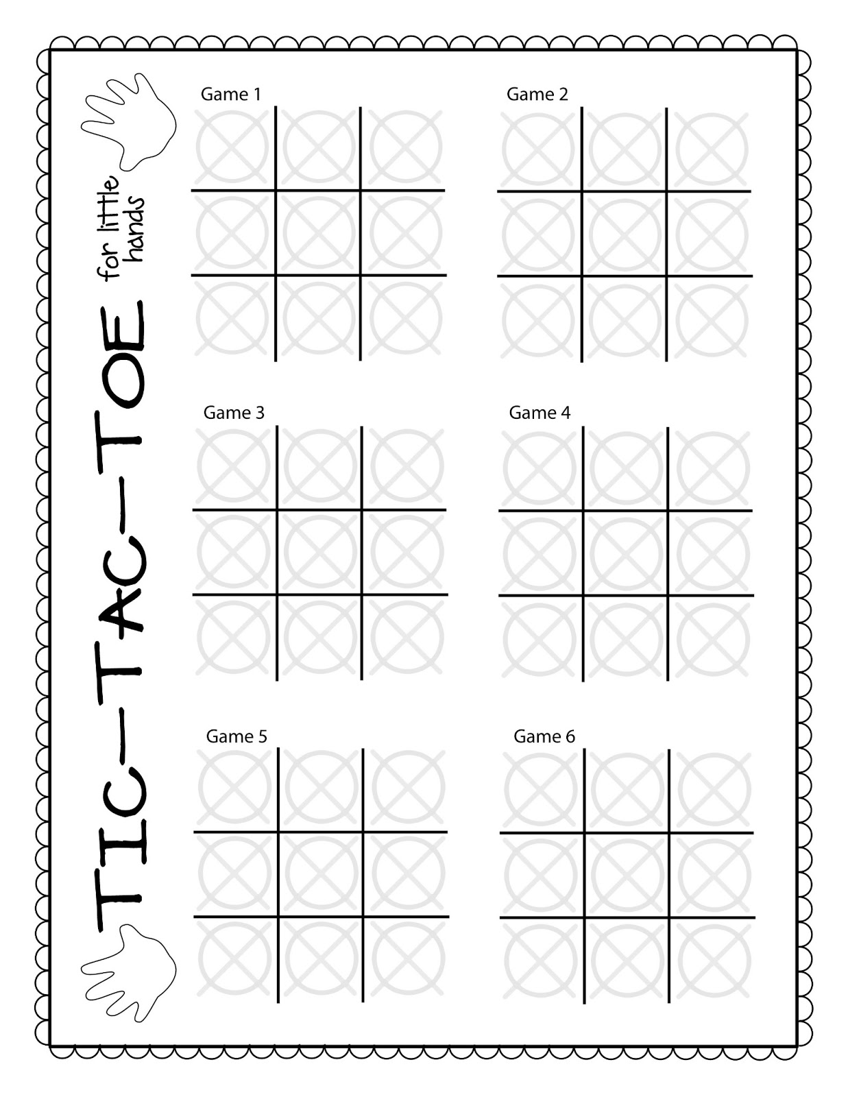 The Puzzle Den TicTacToe Freebie Template – Tic Tac Toe Template