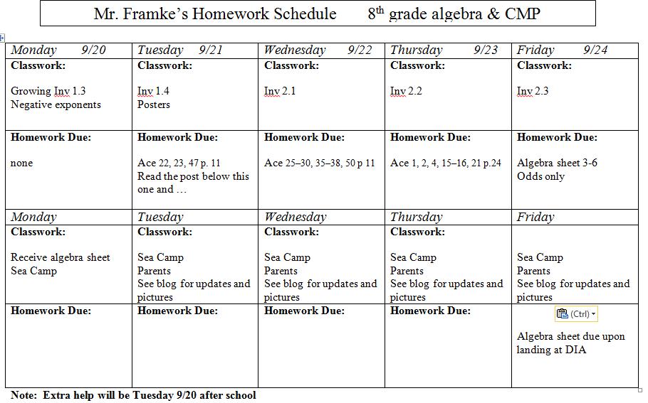 Homework grade 3