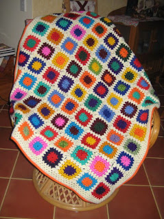 Crochet Patterns Knee Rugs : really wanted to finish this crochet granny knee rug before the ...