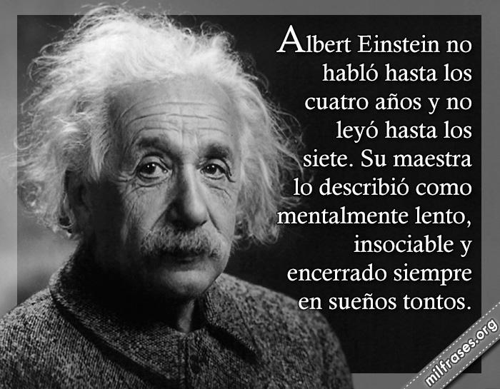 historias de motivaciones, fracasos de albert einstein, creador de la teoria de la relatividad, físico alemán, fracasos de famosos de la historia